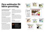 Fler websajter för bättre genomslag