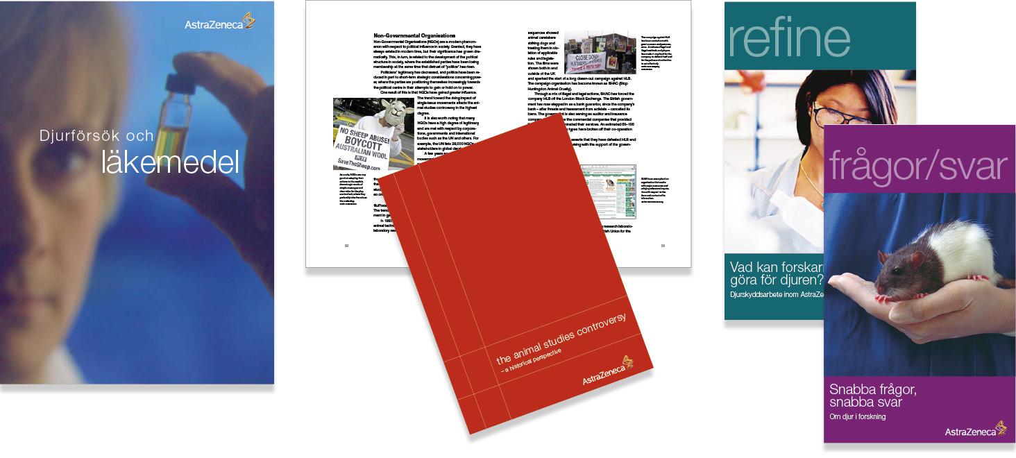 AstraZeneca-broschyrer