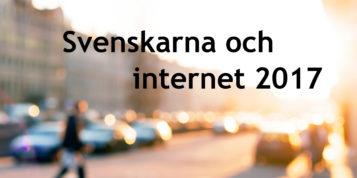 Rapporten Svenskarna och internet 2017- rapport framsida