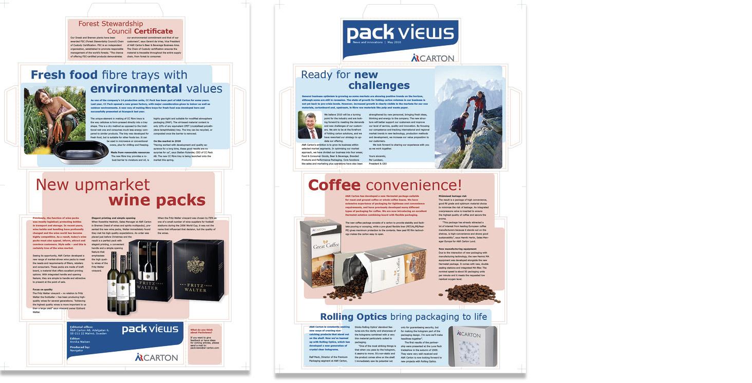 AR Carton pack views