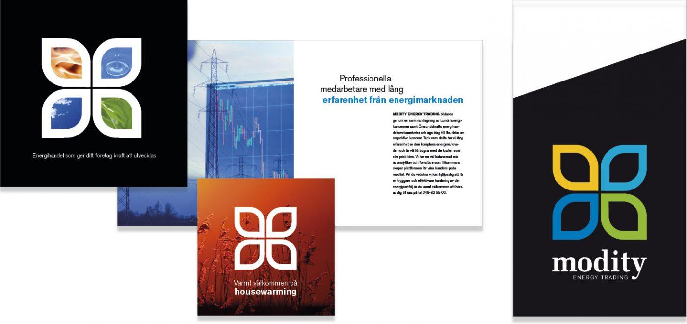 Modity Energy Trading Kommunikationsmaterial