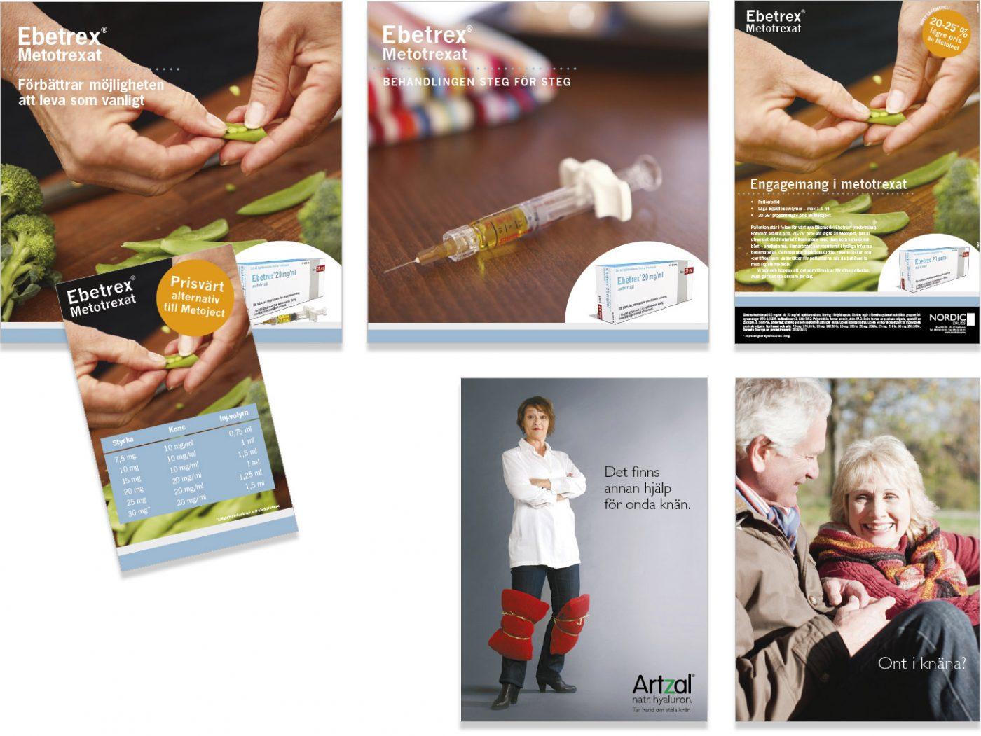 Nordic Drugs Marknadsföring Ebetrex och Artzal