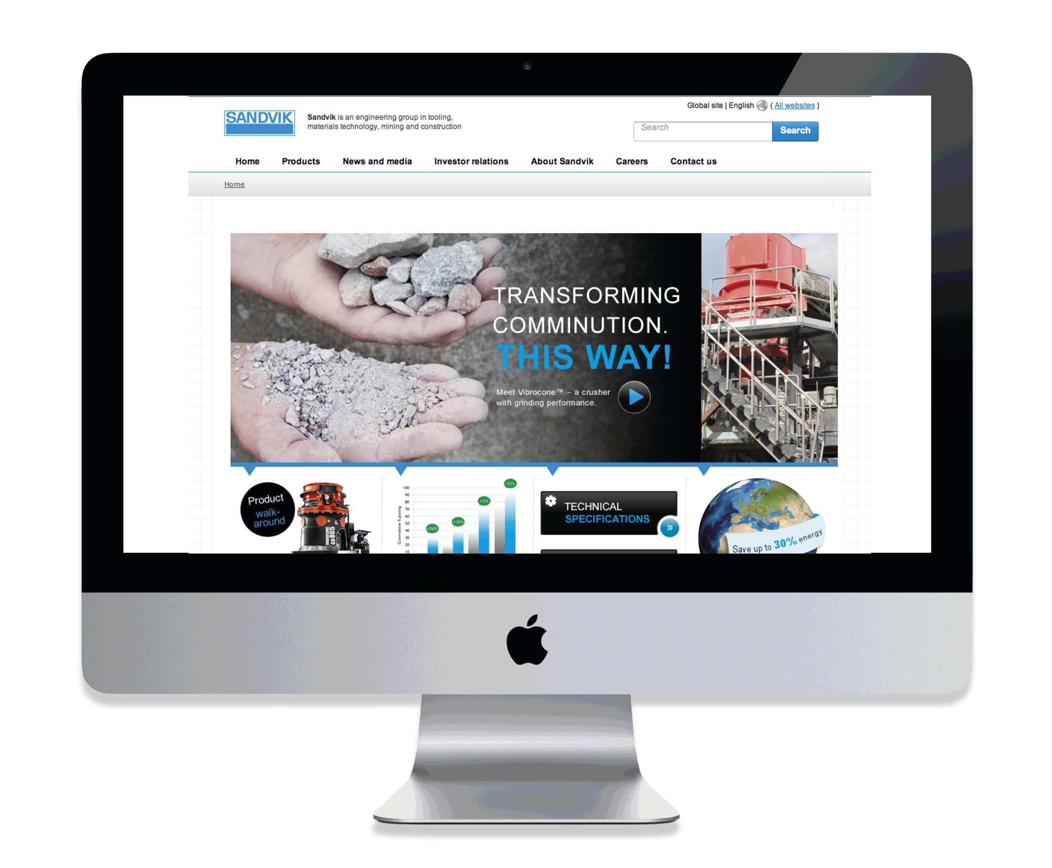 Sandvik Mining webb